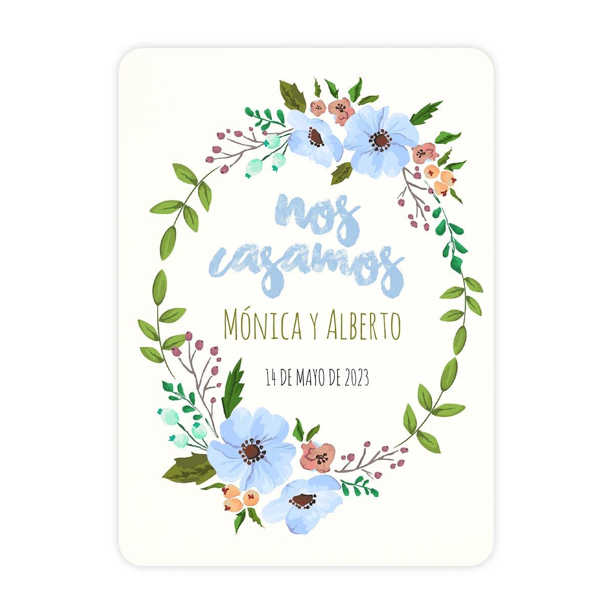 Invitación boda Live Blue