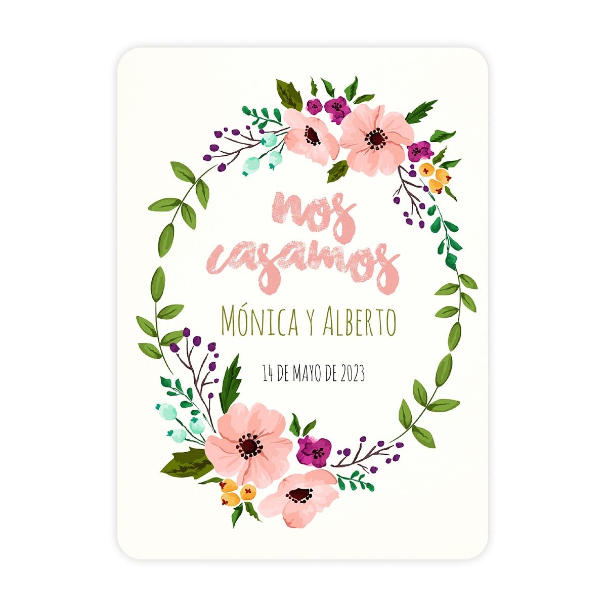 Invitación boda Live Pink