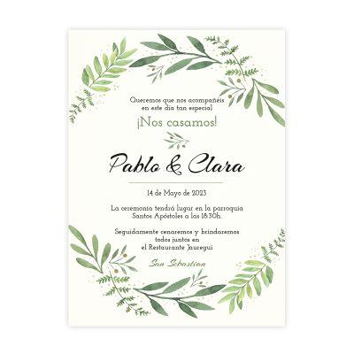 Invitación boda Olivo Miss