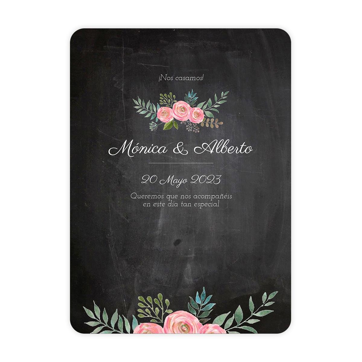 Invitación boda Serena Chalk