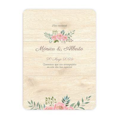 Invitación boda Serena Wood
