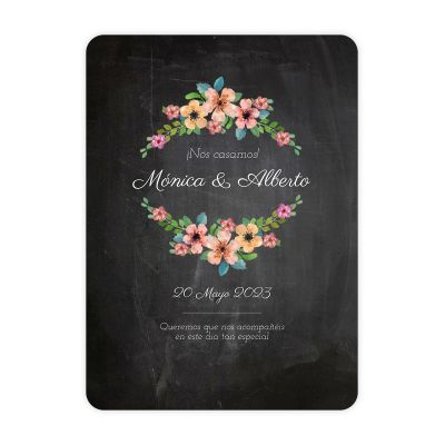 Invitación boda Wildflowers Chalk