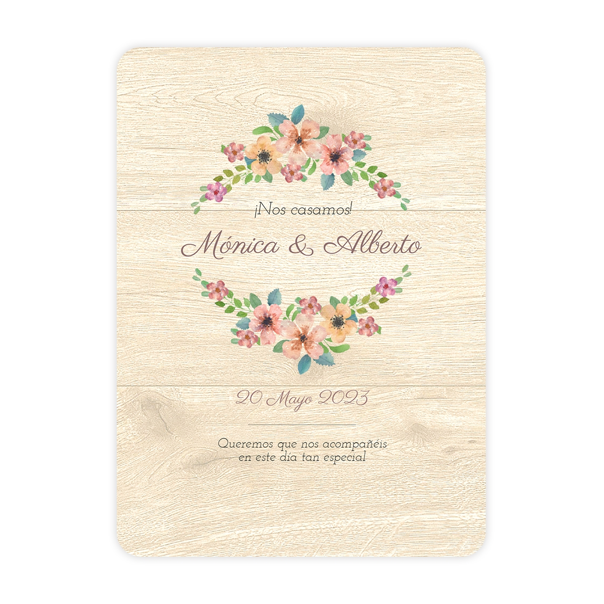 Invitación boda Wildflowers Wood