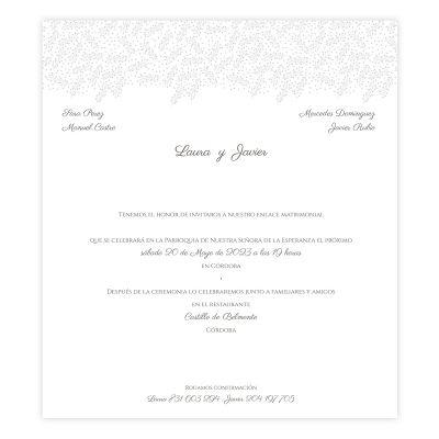 Invitación boda Grace