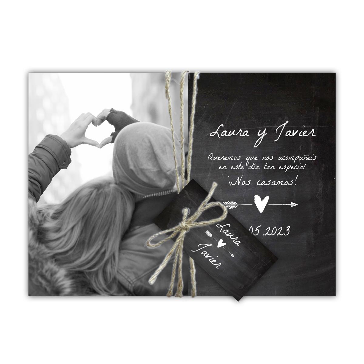 Invitación boda Chalk Heart