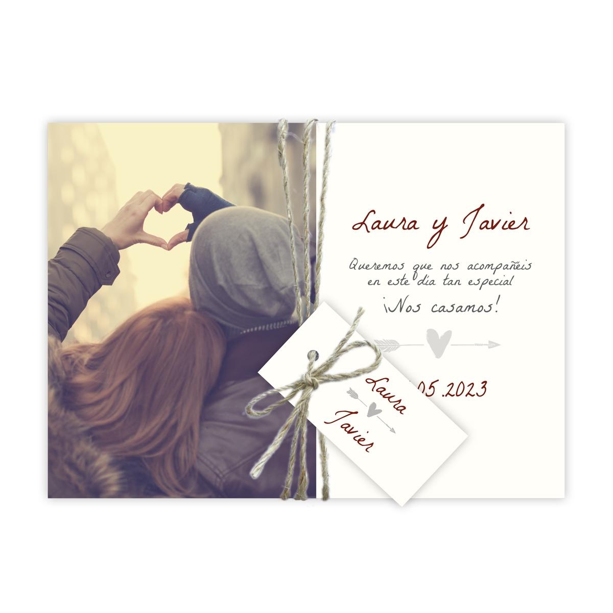 Invitación boda Miss Heart