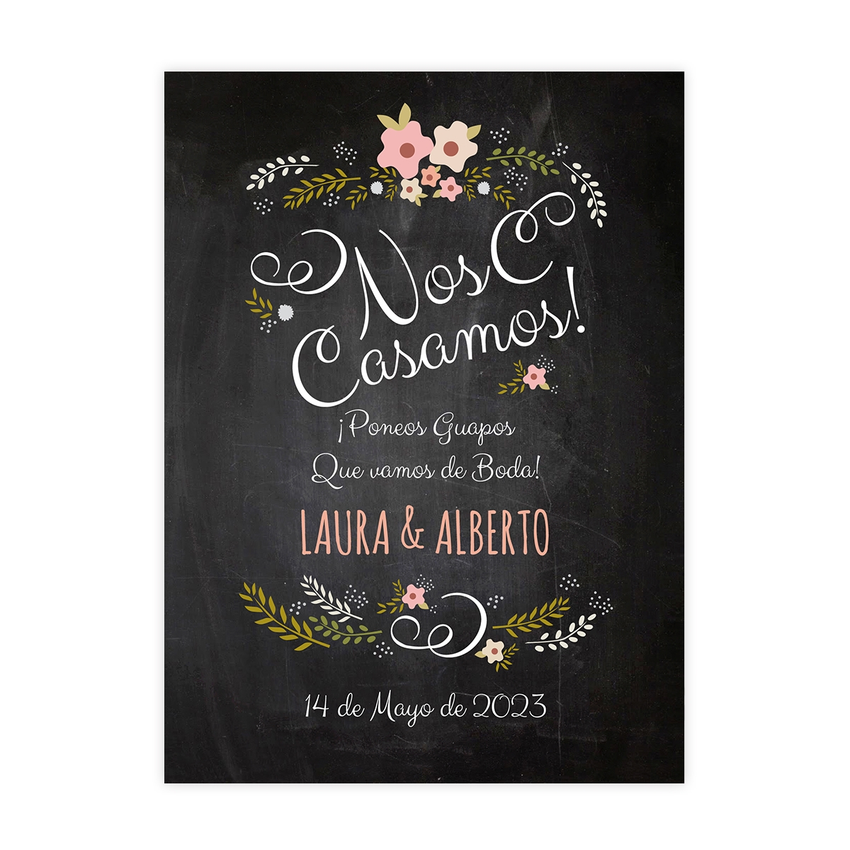 Invitación boda Chalk Rose