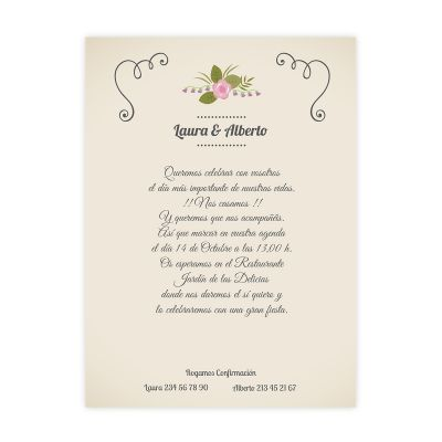 Invitación boda Flourish