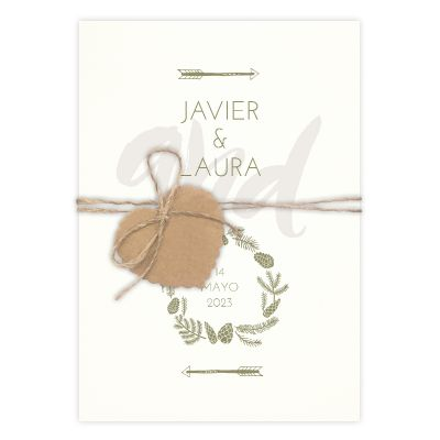 Invitación boda And Arrow
