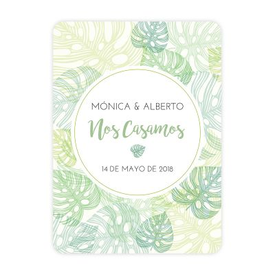 Invitación boda Jungle