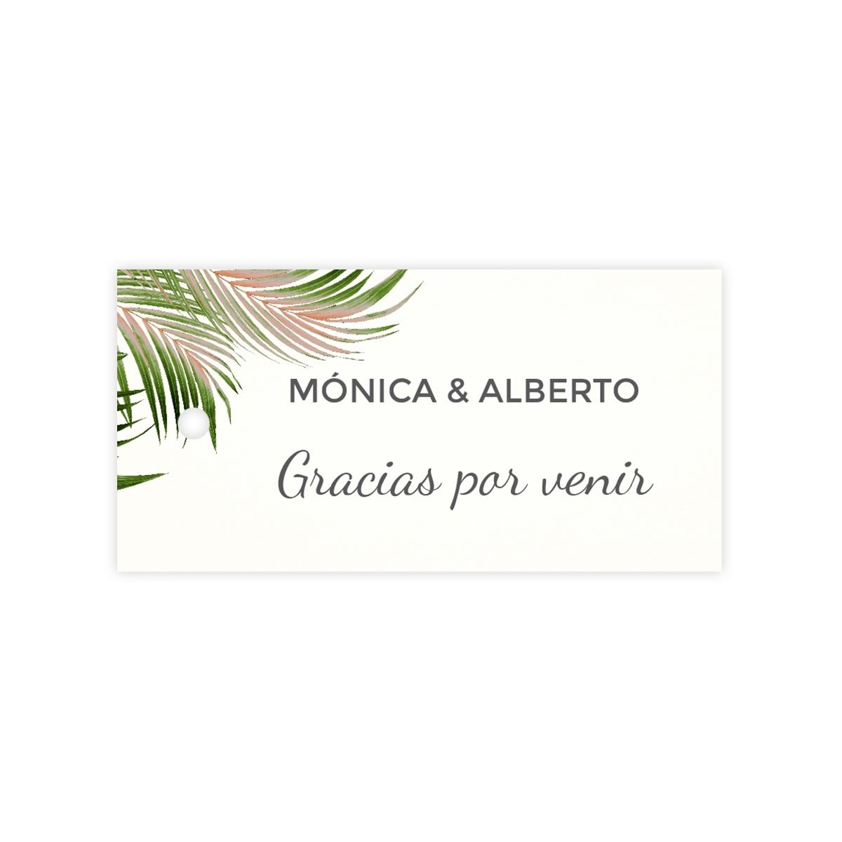 Etiqueta boda Palm