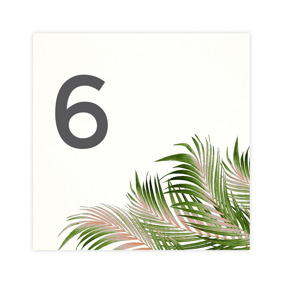 Número mesa boda Palm