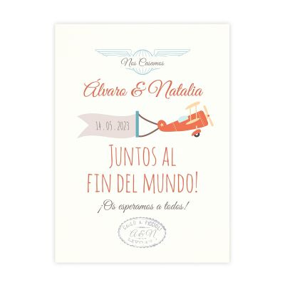 Invitación boda Love Air