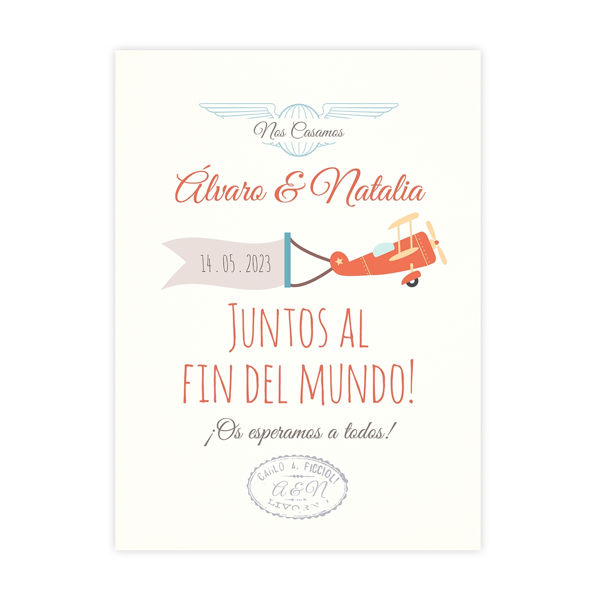 Invitación boda Love Air