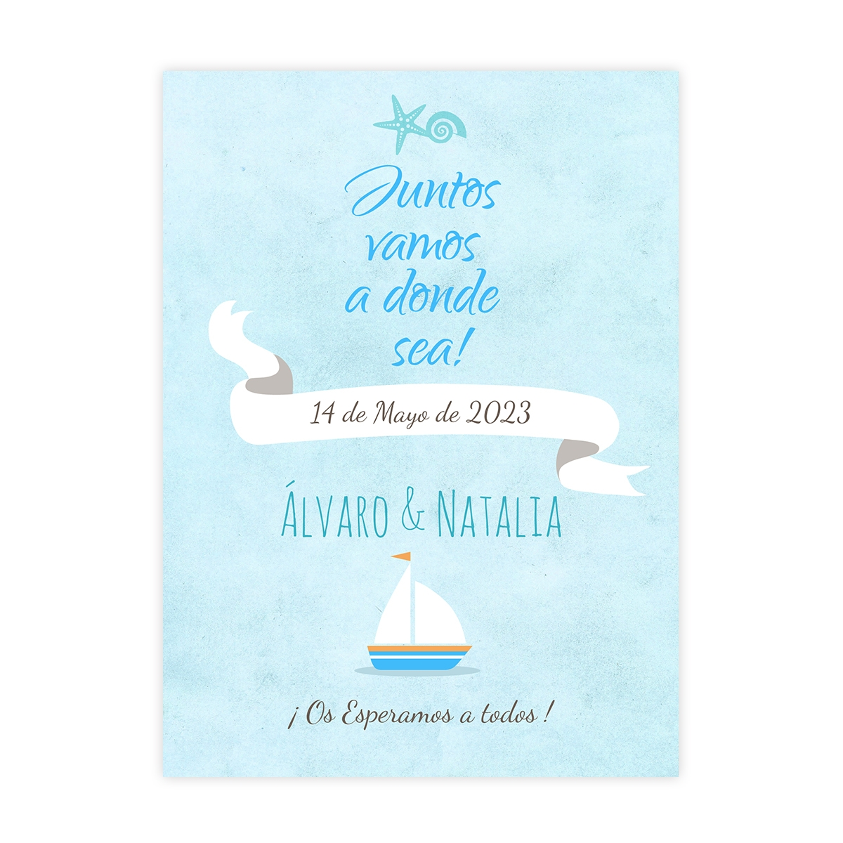 Invitación boda Mar