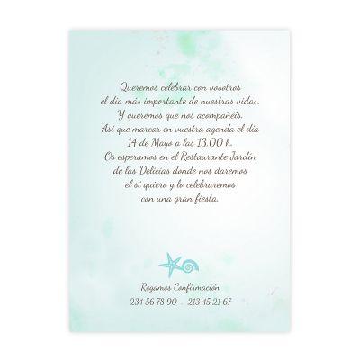 Invitación boda Mar