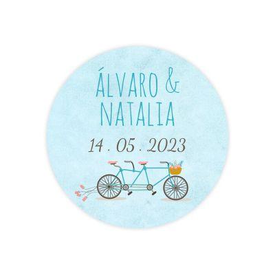 Invitación boda Tándem
