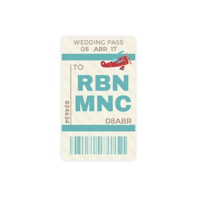 Invitación boda Happy Pass