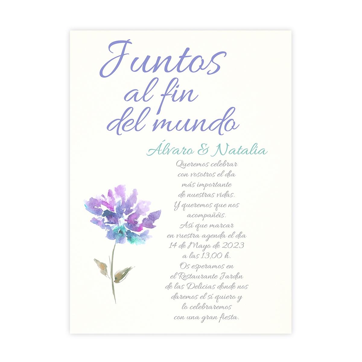 Invitación boda Aguazul