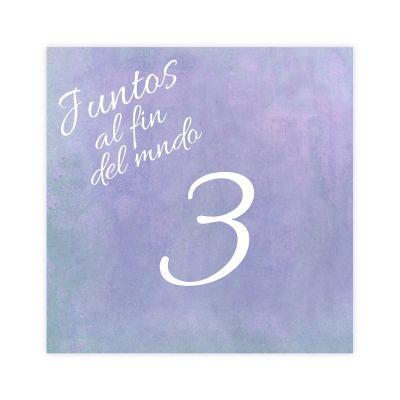 Número mesa boda Aguazul