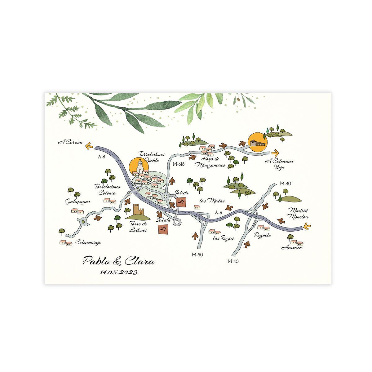 Mapa Olivo