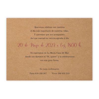 Invitación boda Cloe