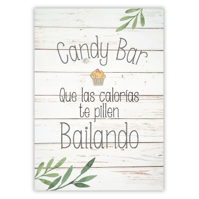 Cartel Candy Bar Olivo