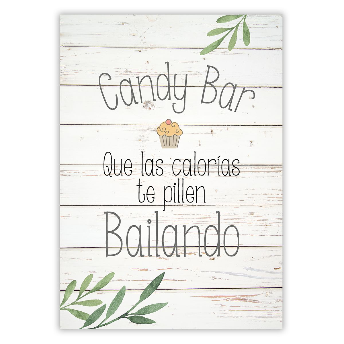 Cartel Candy Bar Olivo A3