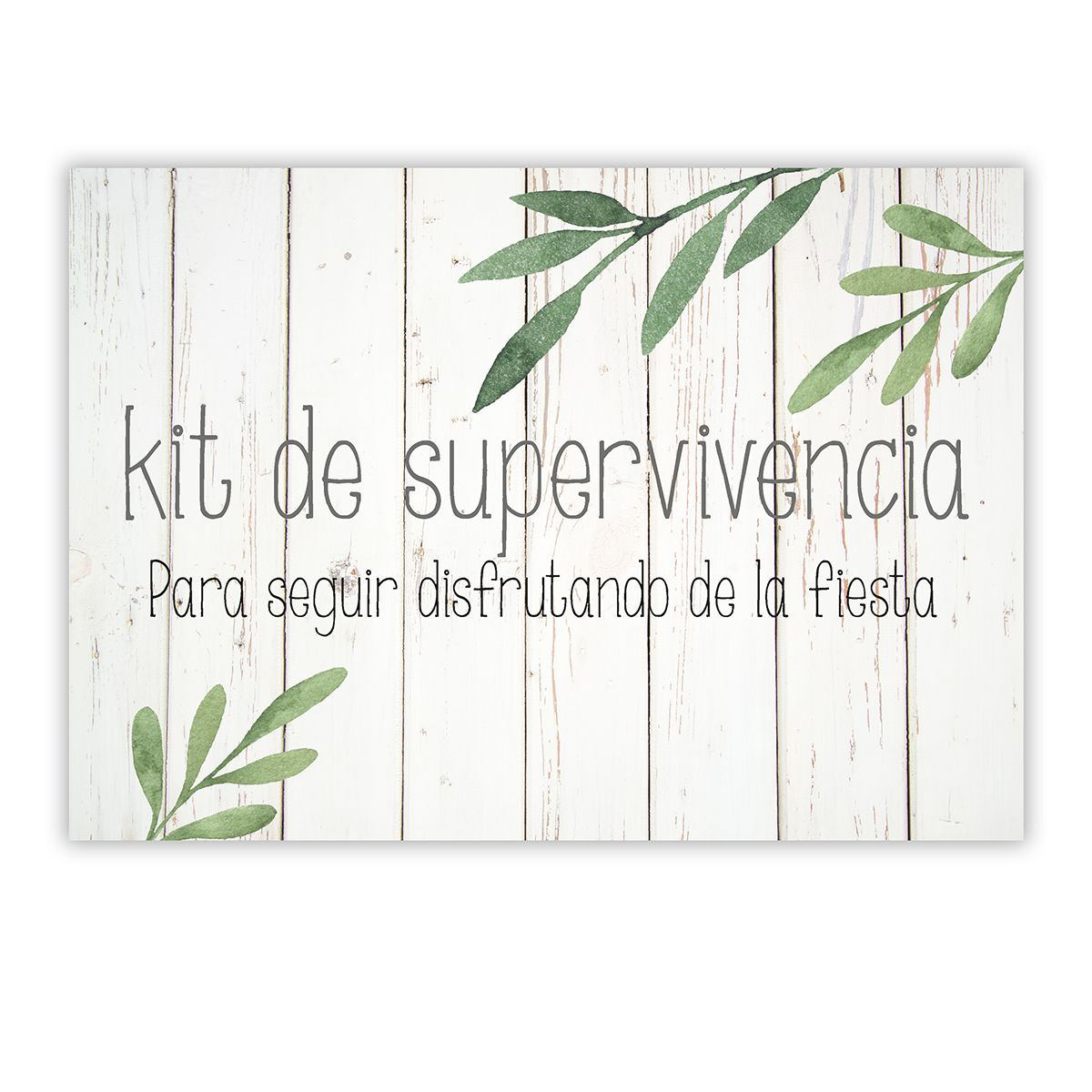 Cartel Kit supervivencia Olivo A4