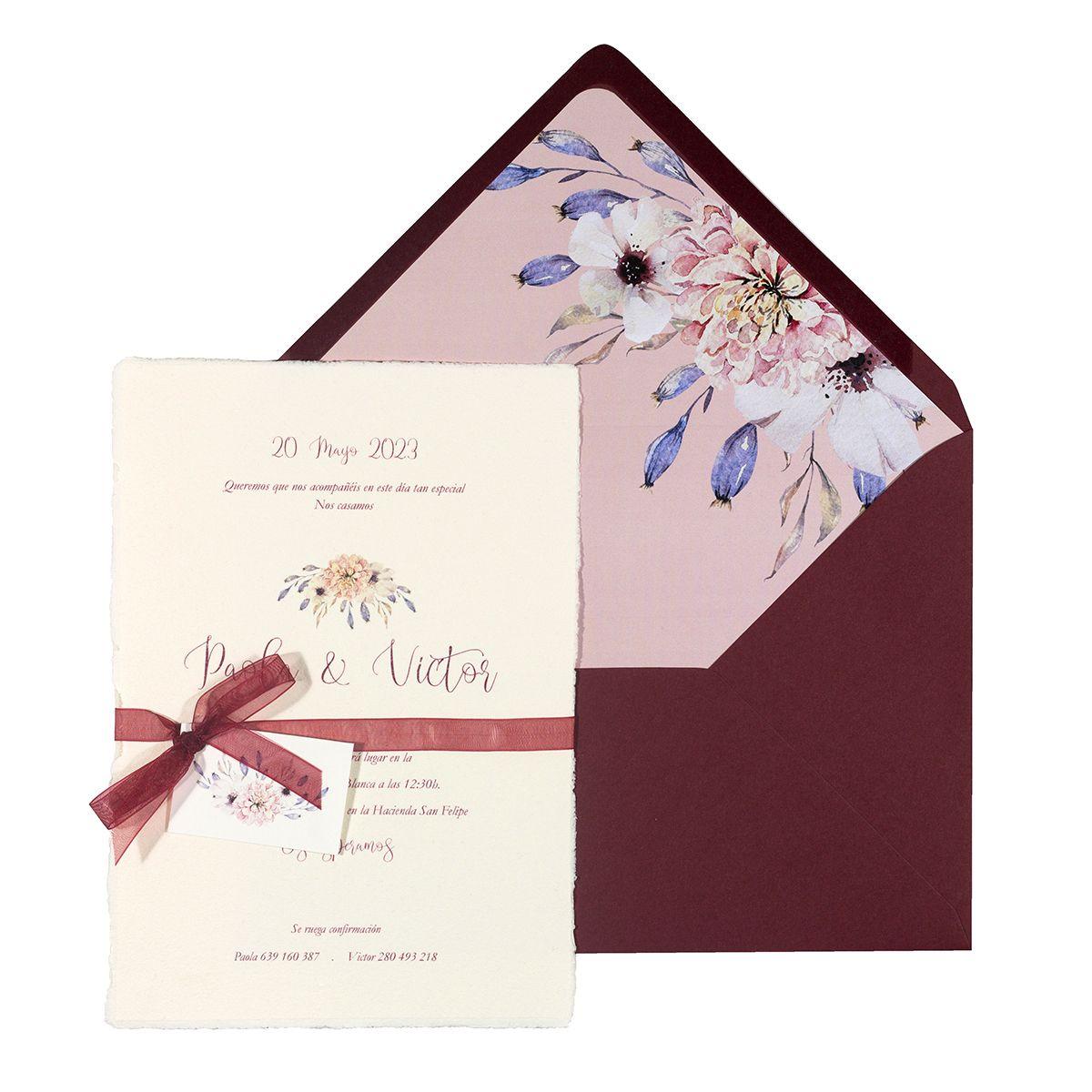 Invitación boda Ashi