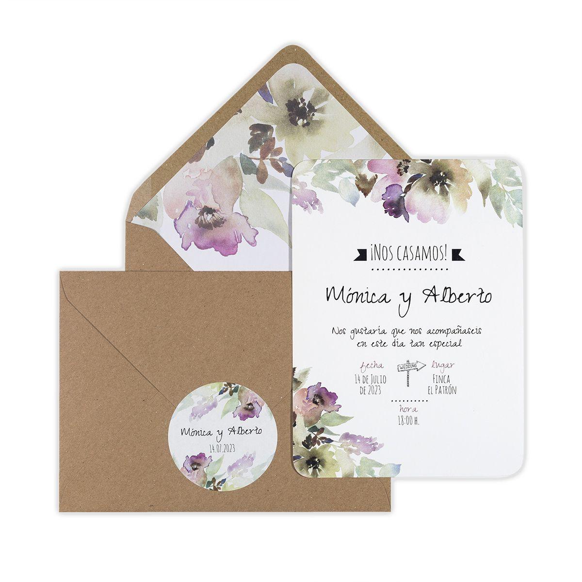 Invitación boda Arabela