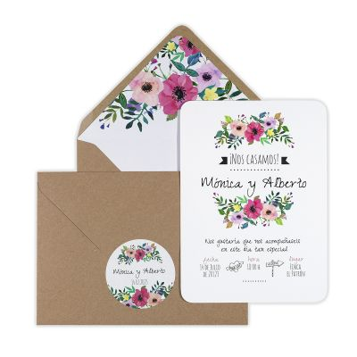 Invitación boda Renata