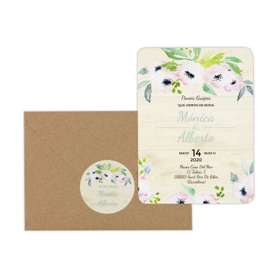 Invitación boda Bliss Wood