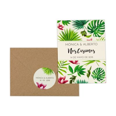 Invitación boda Tropical