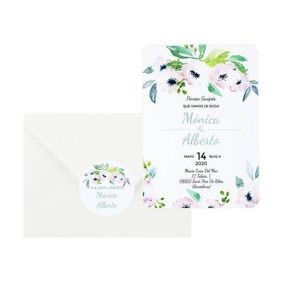 Invitación boda Etna