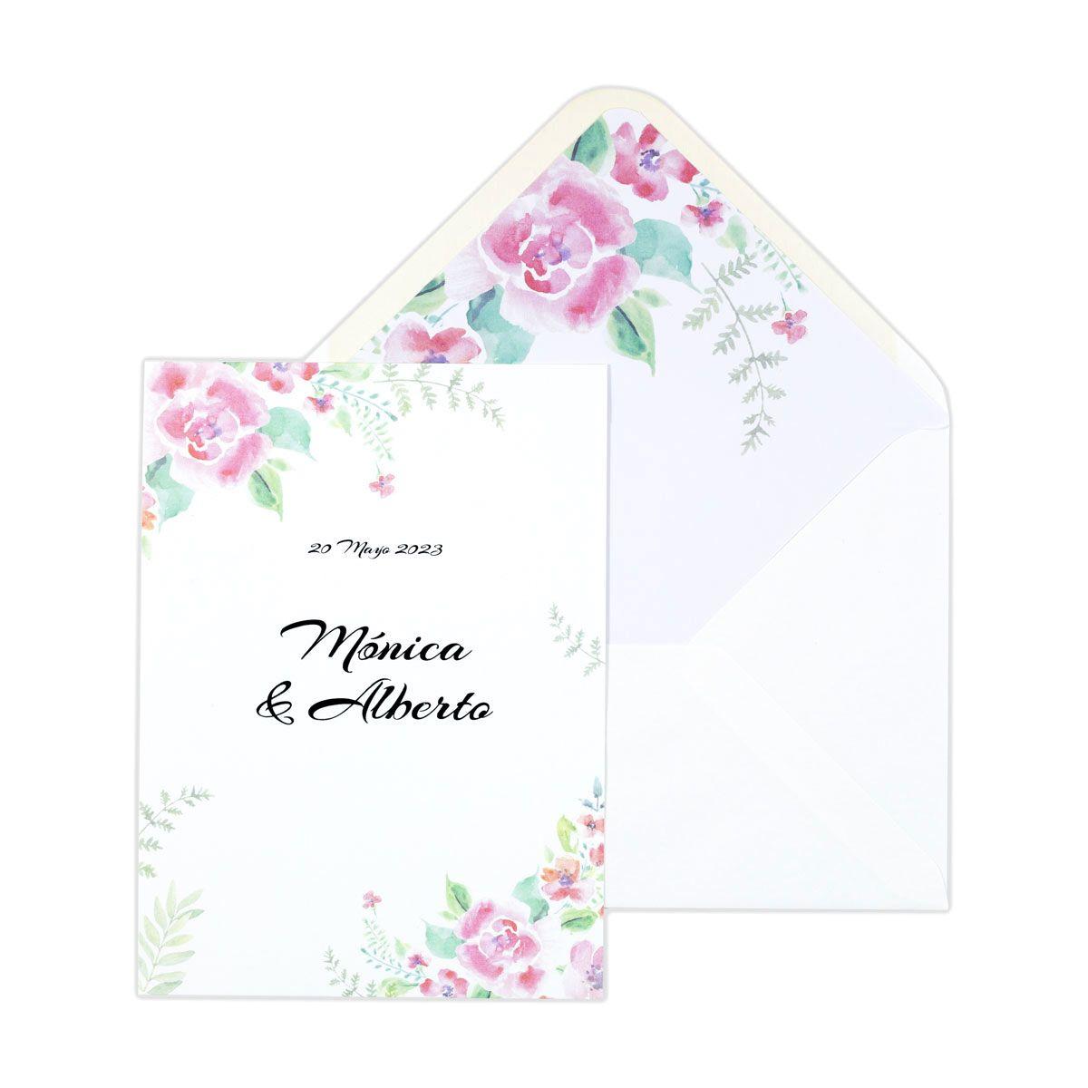 Invitación boda Chic Garden