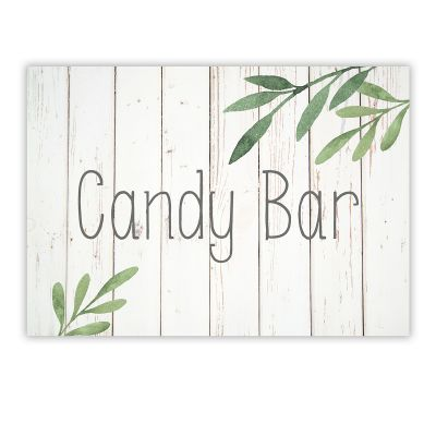 Cartel Candy Bar Olivo A4