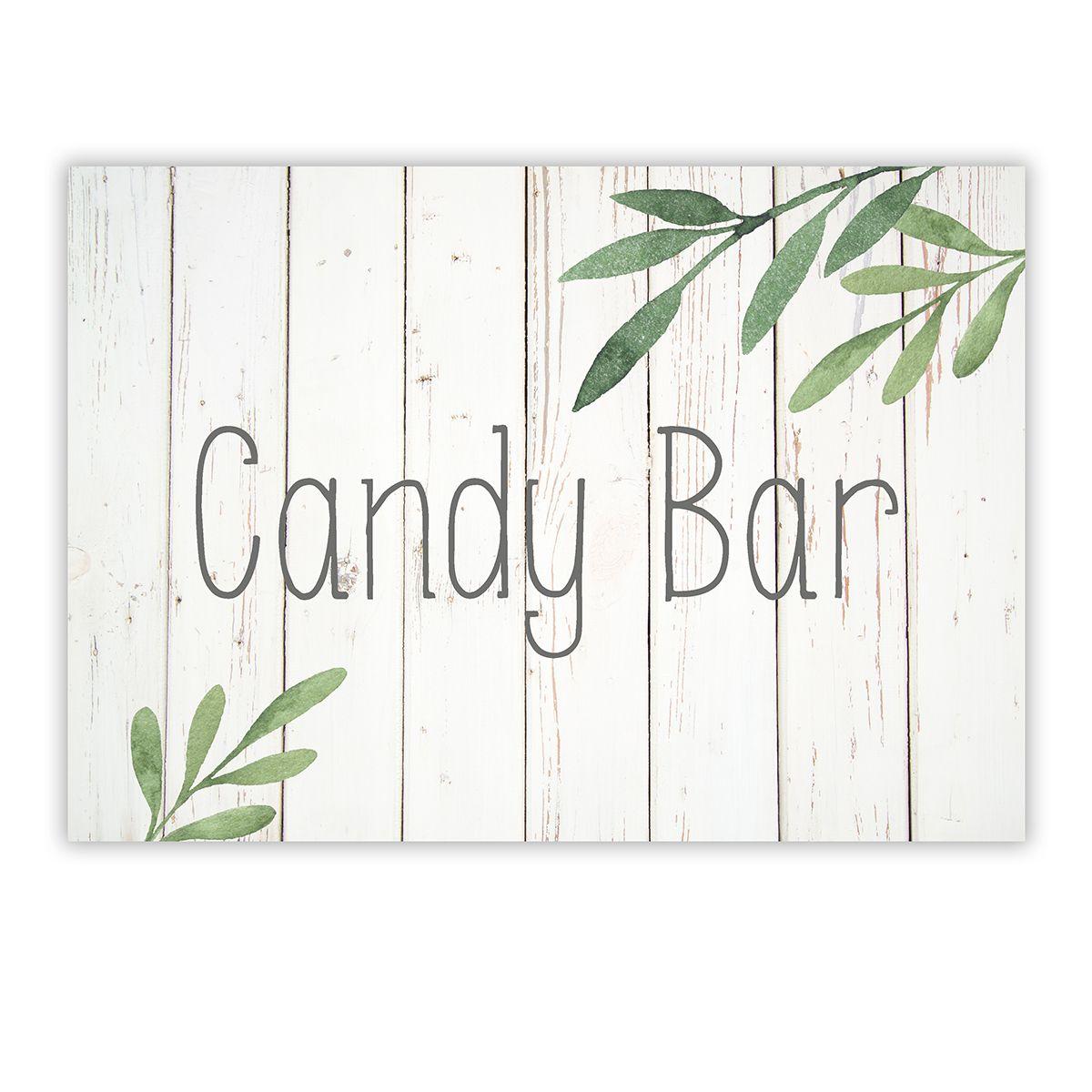 Cartel Candy Bar Olivo A4