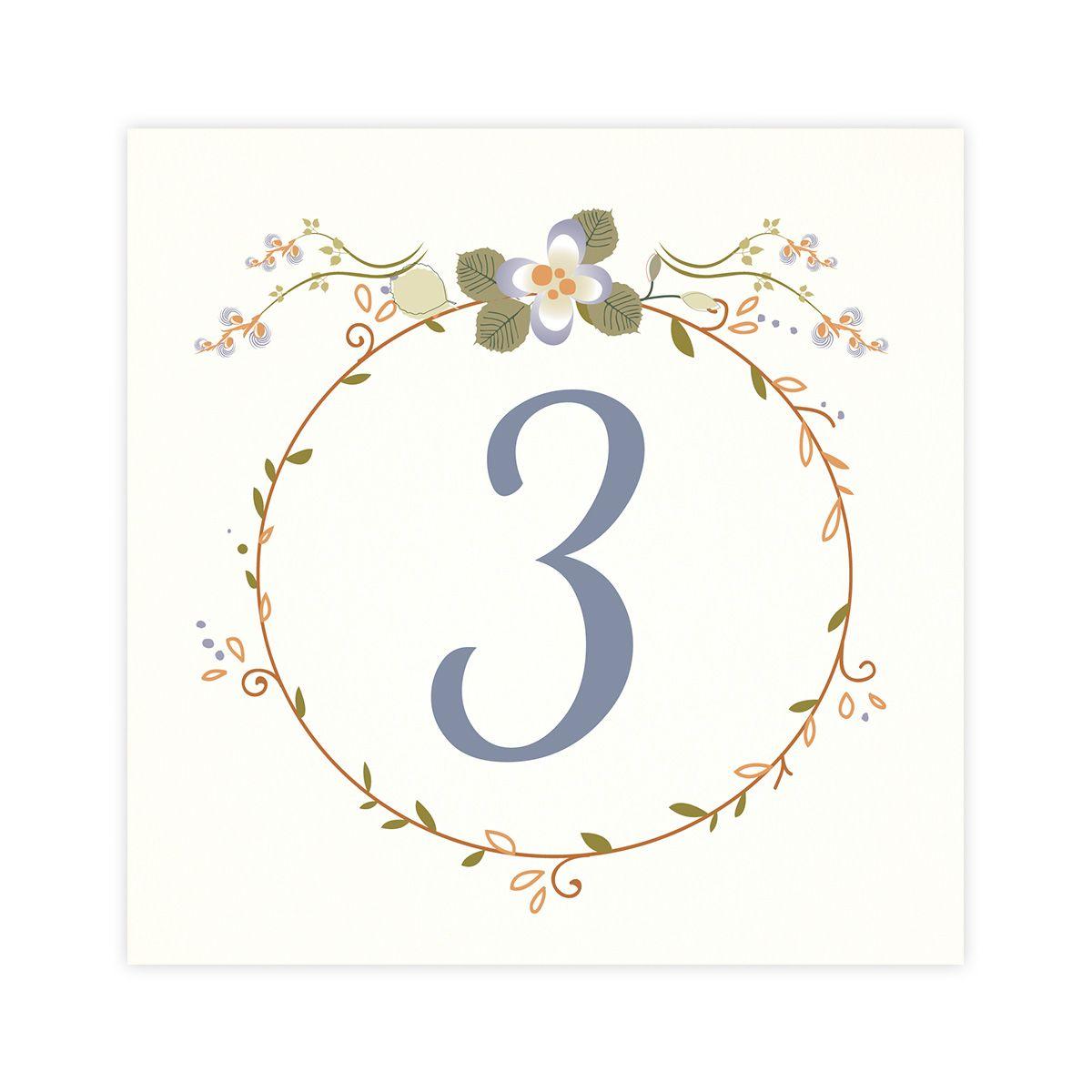 Número mesa boda Mariposas