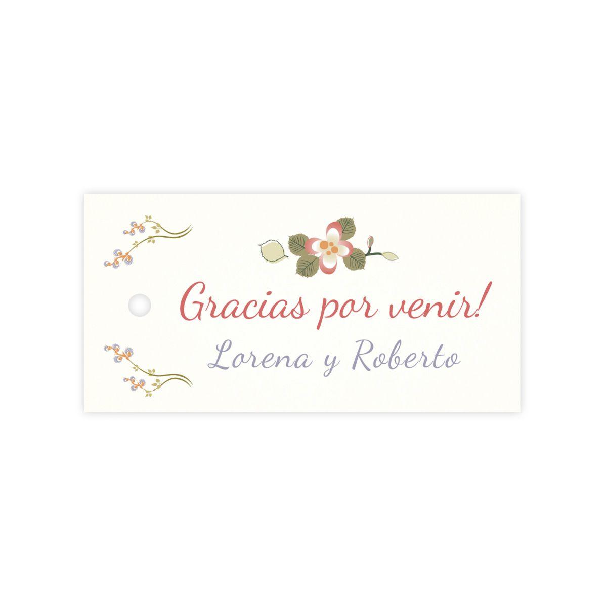 Etiqueta boda Mariposas