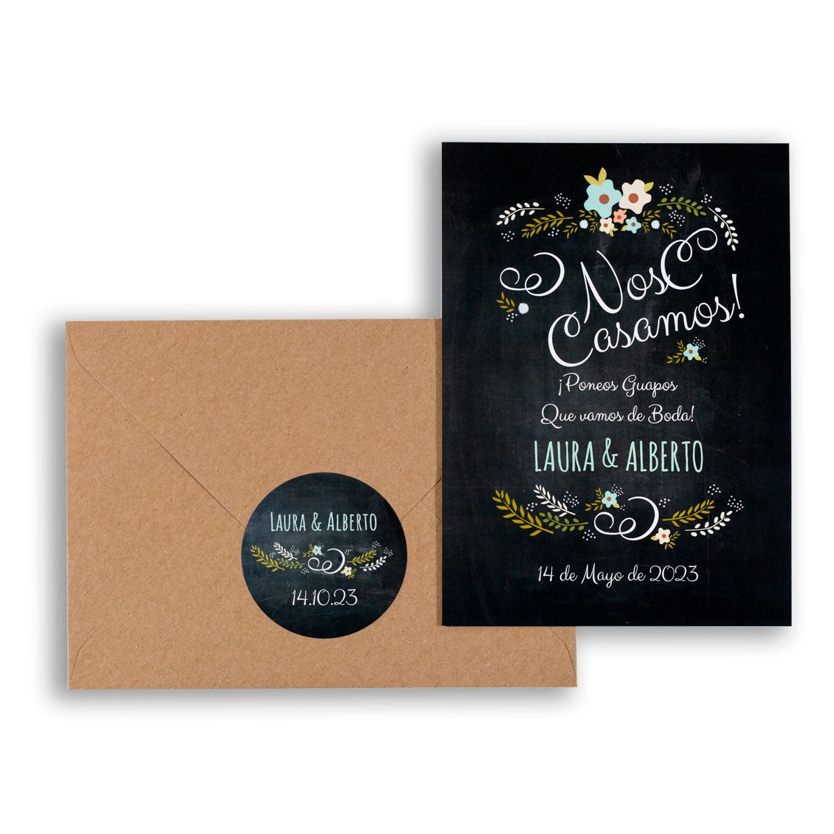 Invitación boda Chalk Blue