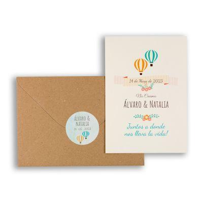 Invitación boda En Globo