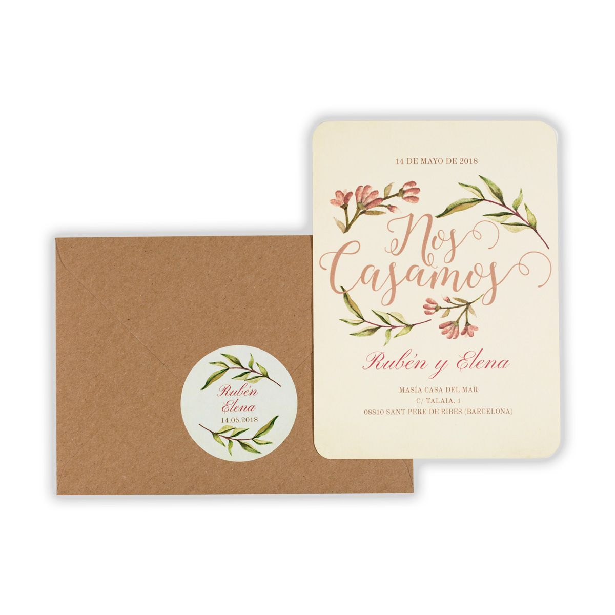 Invitación boda Blooms Write
