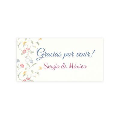 Etiqueta boda Violetas