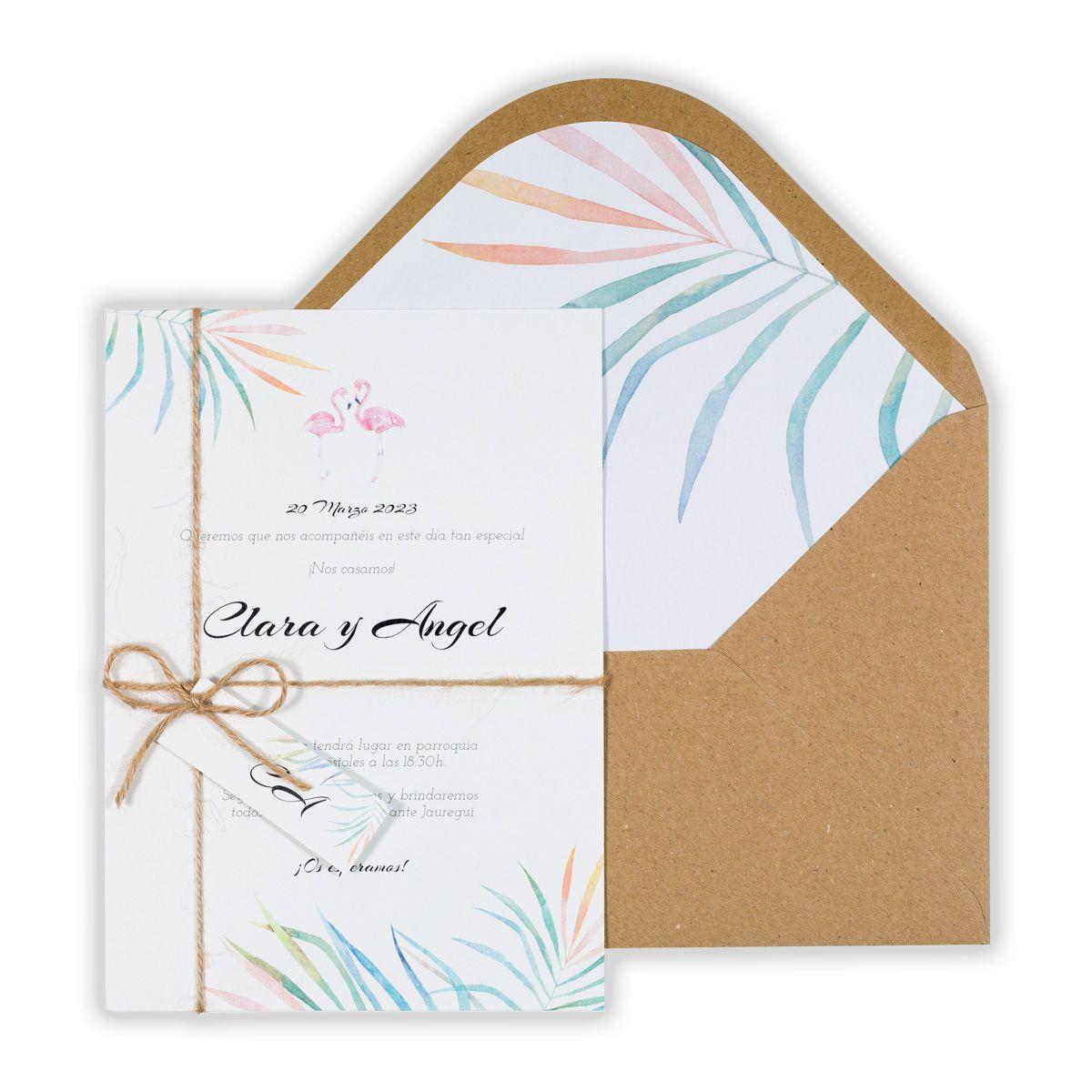 Invitación boda Chic Flamingo Special