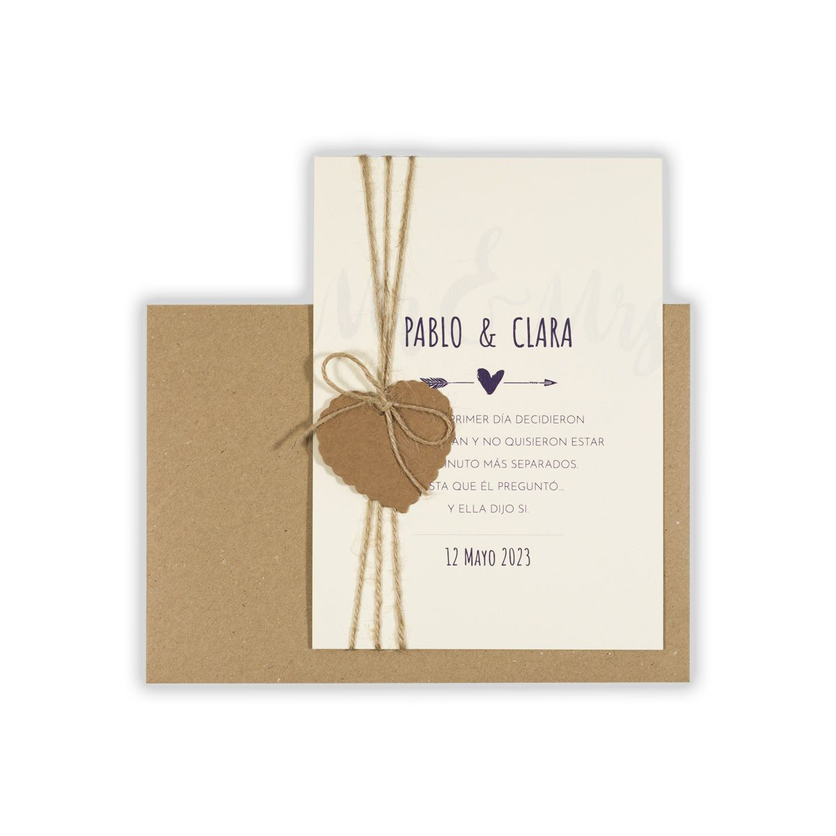 Invitación boda Mr & Mrs