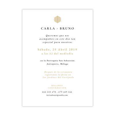 Invitación boda Reins Ocre