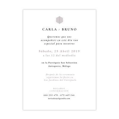 Invitación boda Reims Morada