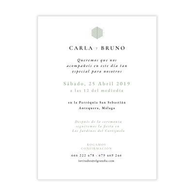 Invitación boda Reims Verde