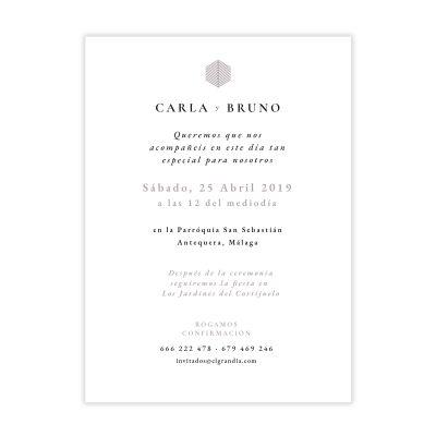 Invitación boda Reims Malva